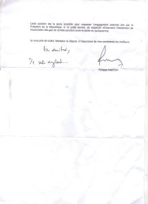lettre du Ministre Martin 2  29 08 2013