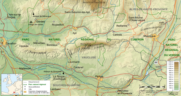 Luberon_topographic_map-fr